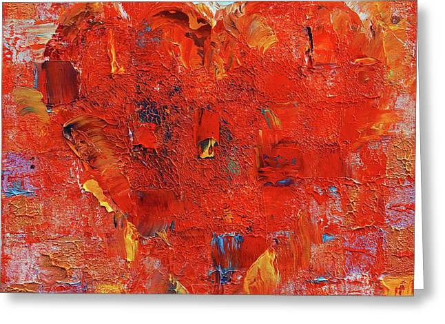 Patchwork Heart Greeting Card by Michael Creese