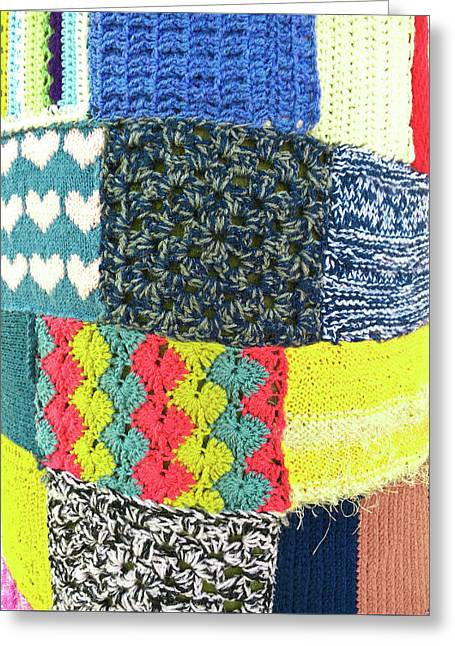 Patchwork Wool Greeting Card by Tom Gowanlock