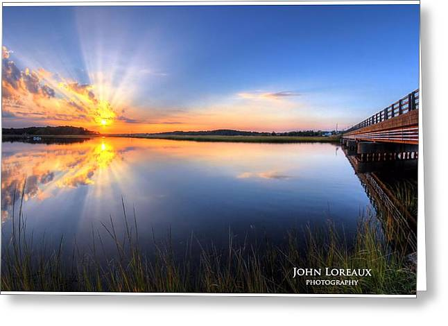 Patcong Rays Greeting Card by John Loreaux