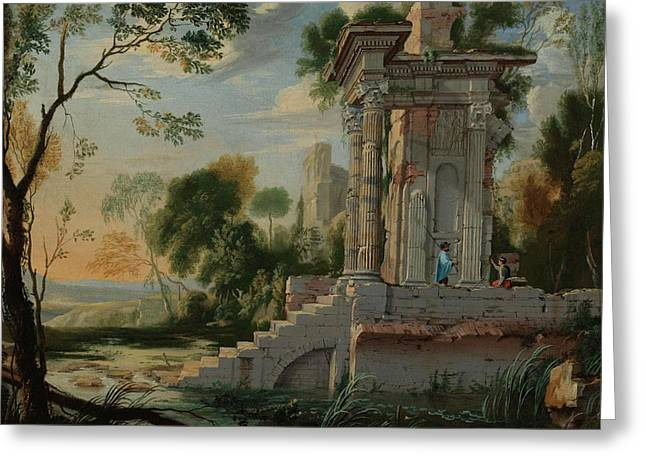 Patel The Younger Architectural Capriccio Greeting Card