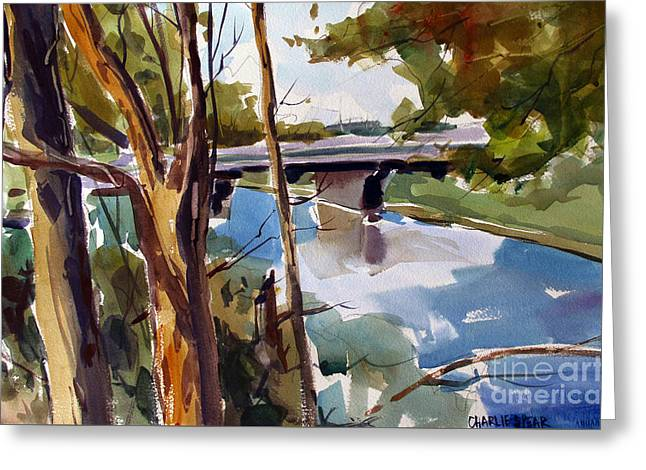 Path Along The Eel River Greeting Card by Charlie Spear