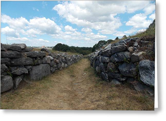 Path At Fort Griswold 1 Greeting Card by Nina Kindred