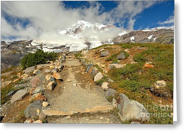 Path Before The Climb Greeting Card by Adam Jewell