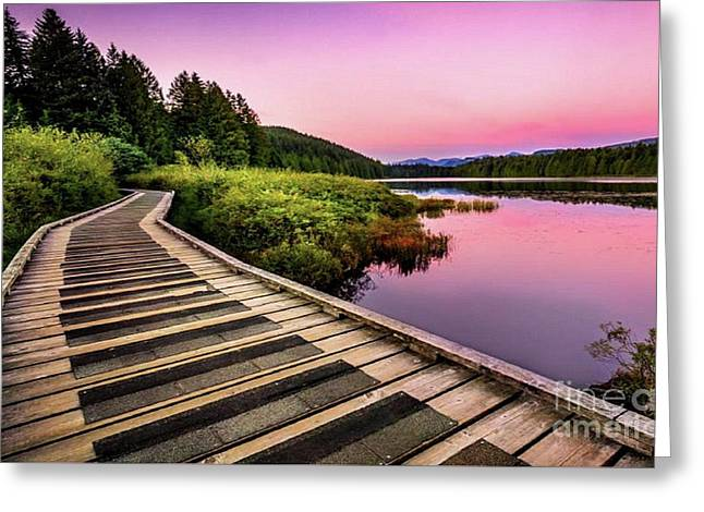 Path By The Lake Greeting Card