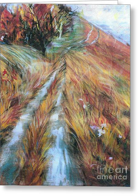 Greeting Card featuring the painting Path by Debora Cardaci