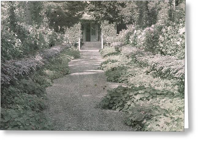 Path In Monet's Garden At Giverny Greeting Card