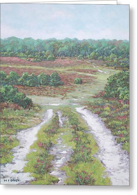 Path In New Forest  Greeting Card by Martin Davey