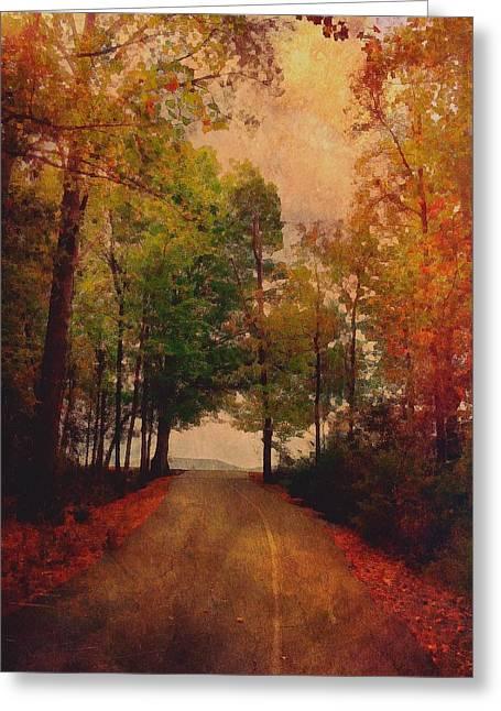 Path Into Autumn Greeting Card