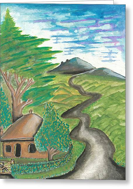 Path Into The Hills Greeting Card