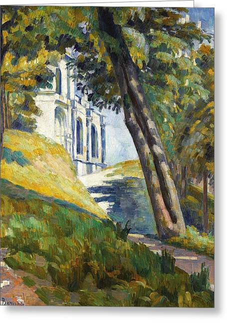 Path Leading To The Church Of Saint-pierre At Tonnerre Greeting Card by Emile Bernard