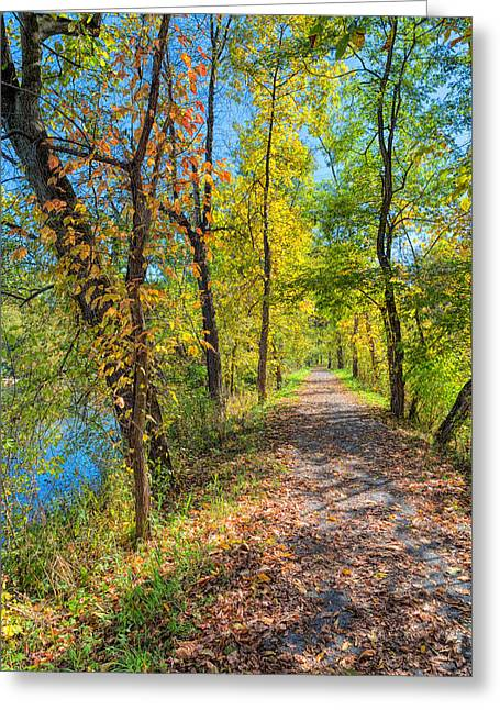 Path Through Fall Greeting Card
