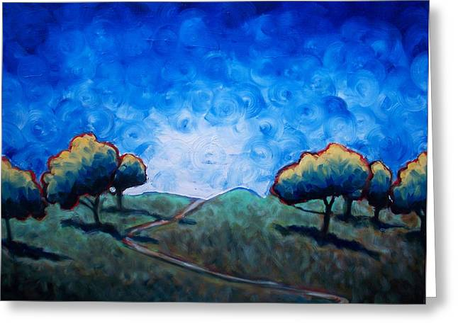 Path Through Las Trampas Greeting Card by Sheila Tajima
