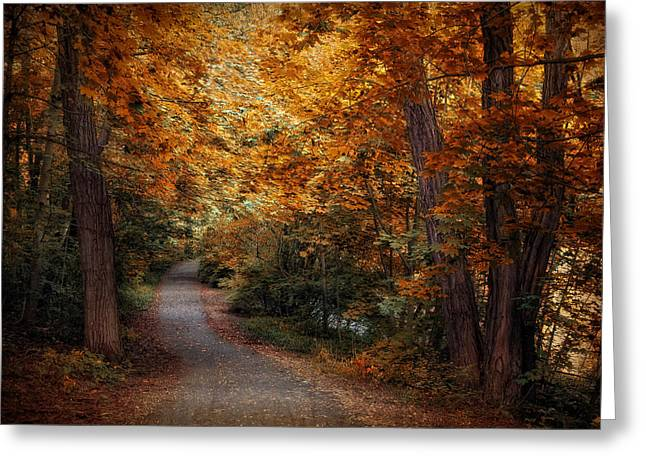 Path To Autumn  Greeting Card by Jessica Jenney