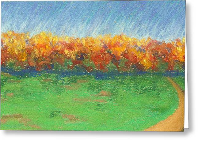 Path To Autumn Trees Greeting Card