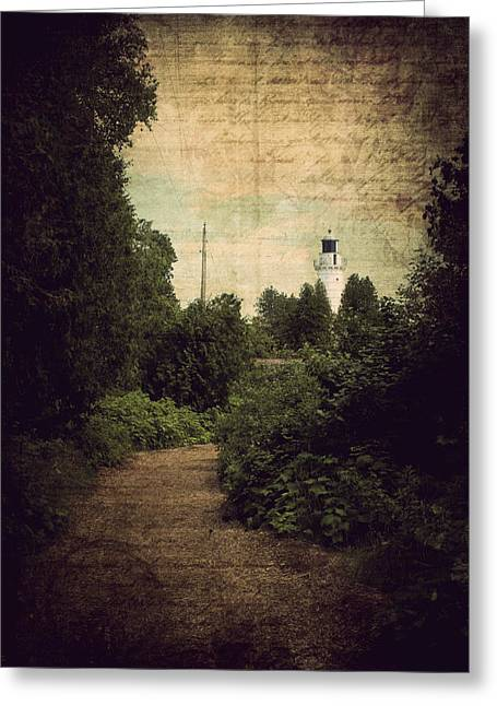 Path To Cana Island Lighthouse Greeting Card