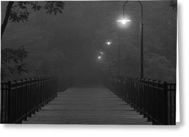 Path To Darkness Greeting Card