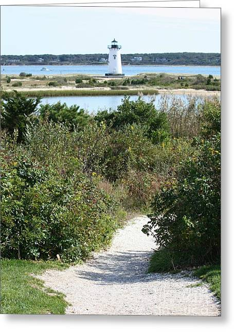 Path To Edgartown Lighthouse Greeting Card by Carol Groenen
