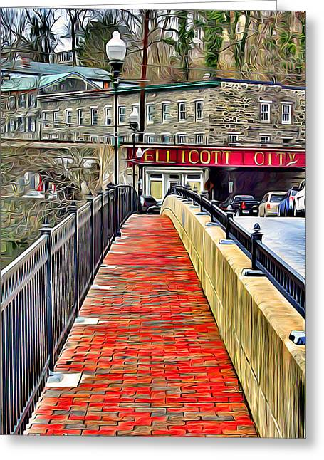 Path To Ellicott City Greeting Card