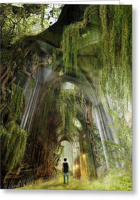 Path To Inner Peace Greeting Card by Mary Hood