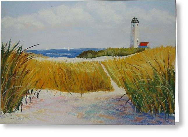 Path To Lighthouse Greeting Card
