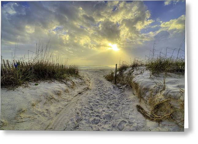 Path To Panama City Beach Greeting Card by JC Findley