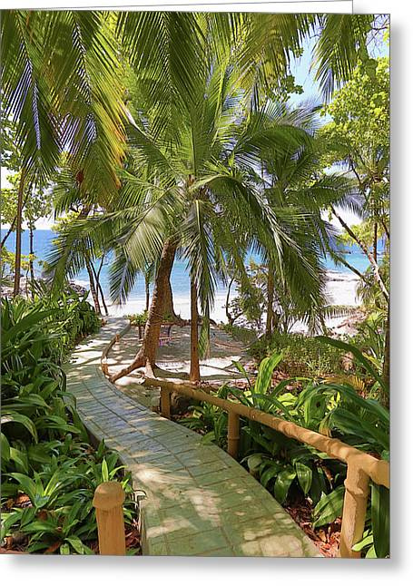 Path To Paradise Greeting Card