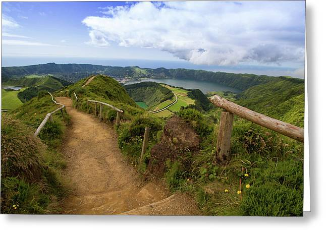 Path To Paradise Greeting Card by Rui Pinedo