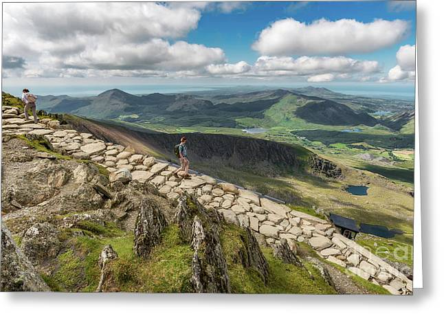 Path To Snowdon Greeting Card