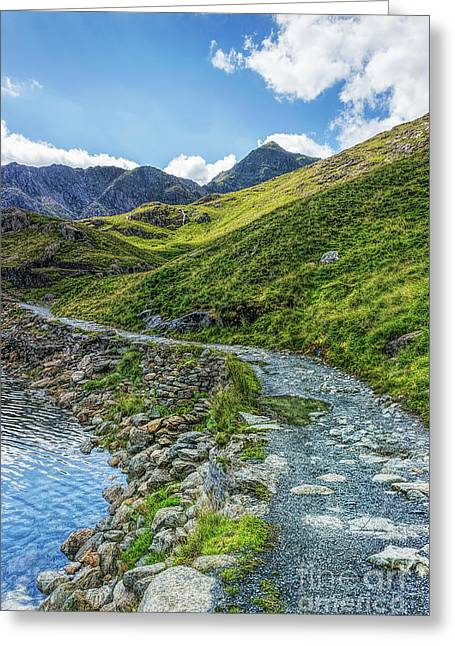 Greeting Card featuring the photograph Path To Snowdon by Ian Mitchell