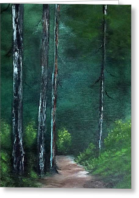 Path To Solitude Greeting Card by Janet Jackson