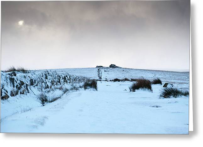 Path To South Hessary Tor II Greeting Card