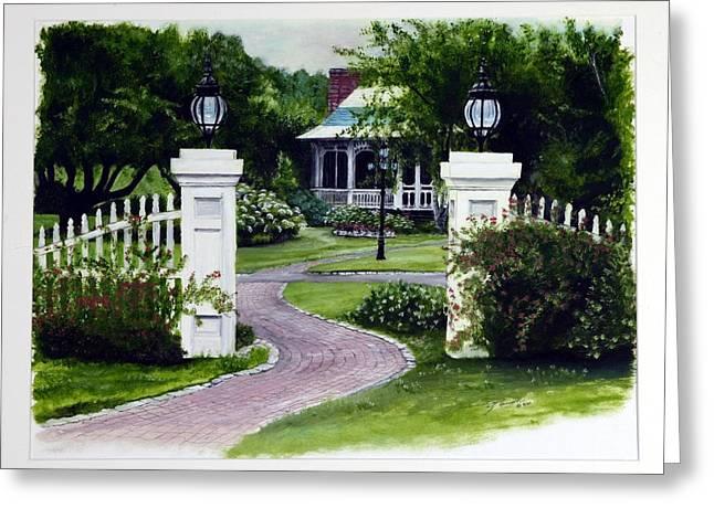 Path To The Garden Studio Greeting Card by Gail Wurtz