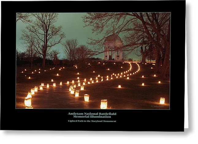 Path To The Md Monument 07 Greeting Card by Judi Quelland