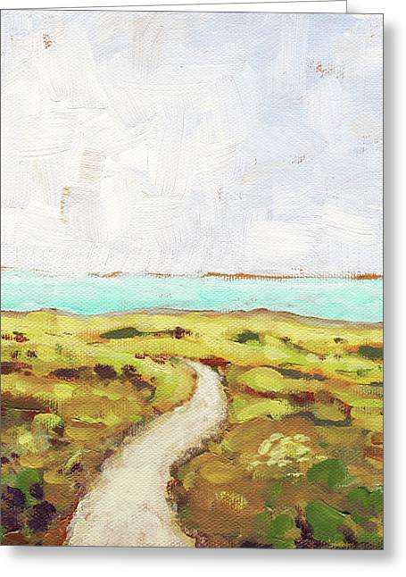 Path To The Sea Greeting Card by Clary Sage Moon