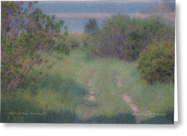 Path To The Sea - Duxbury Ma Greeting Card