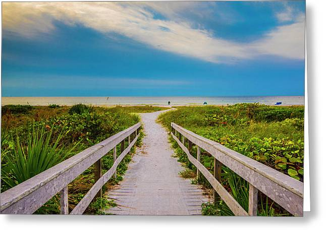 Greeting Card featuring the photograph Path To The Sea by Steven Ainsworth