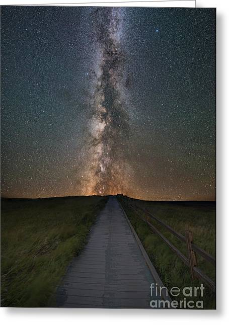 Path To The Stars  Greeting Card