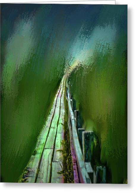 Path To The Unknown #h5 Greeting Card