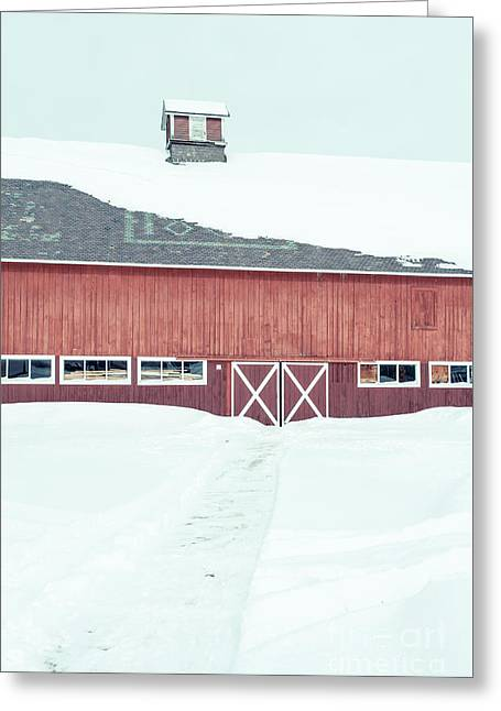 Path To To The Old Red Barn Greeting Card by Edward Fielding