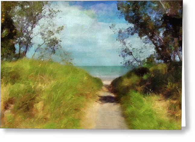 Path To Whihala Beach 2 Greeting Card