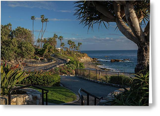 Greeting Card featuring the photograph Pathway Along Heisler Park by Cliff Wassmann