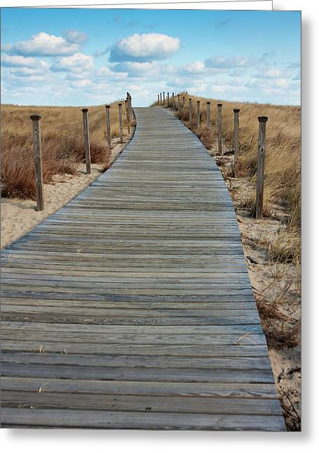 Pathway Greeting Card by Jomo Drew
