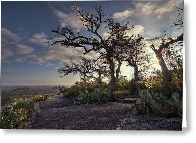 Pathway On Top Of Enchanted Rock Greeting Card