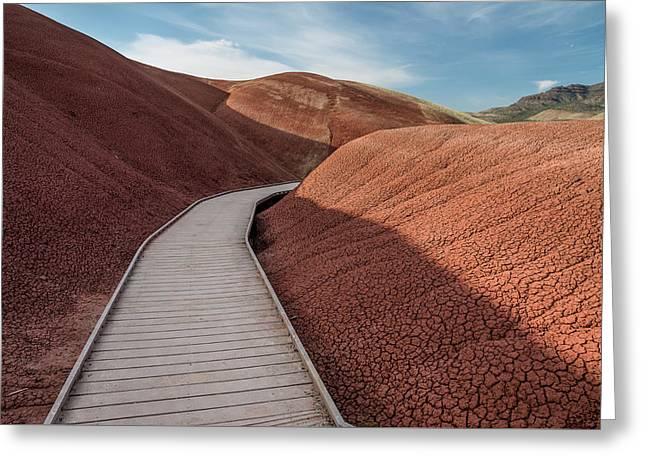 Greeting Card featuring the photograph Pathway Through The Reds by Greg Nyquist