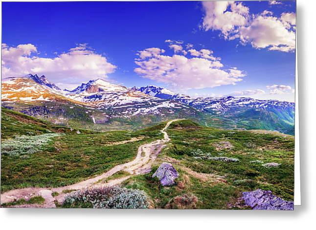 Greeting Card featuring the photograph Pathway To A Valley by Dmytro Korol