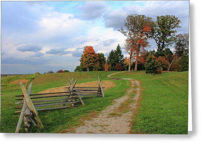 Pathway To Fall Greeting Card