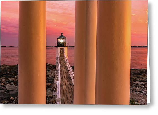 Marshall Point - Beacon Of Light Greeting Card by Thomas Schoeller