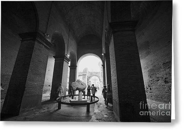 Pathway To History In Rome Greeting Card