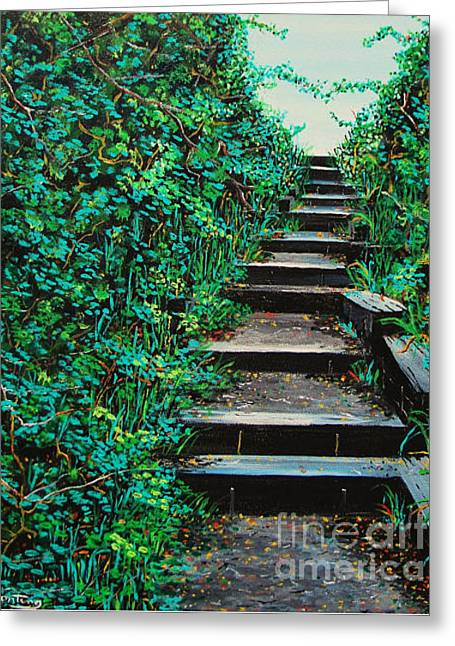 Pathway To Puget Sound 2 Greeting Card by Stephen Ponting