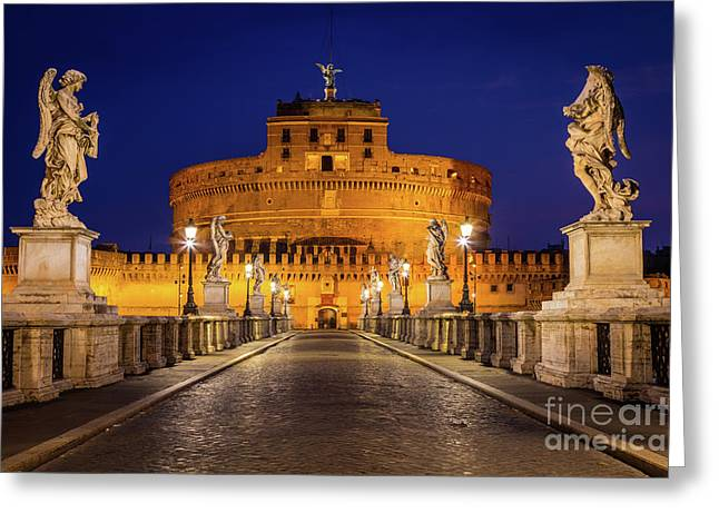 Pathway To Sant'angelo Greeting Card by Inge Johnsson